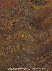 Marbled Autumn Feathers