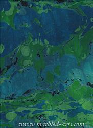 Marbled Blue Green River Rocks