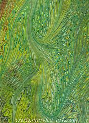 Marbled Chartreuse Dragon Wings