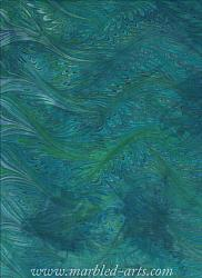 Marbled Light Blue Green Feathers