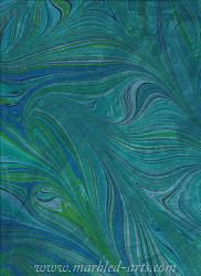 Marbled Light Blue Green Freestyle