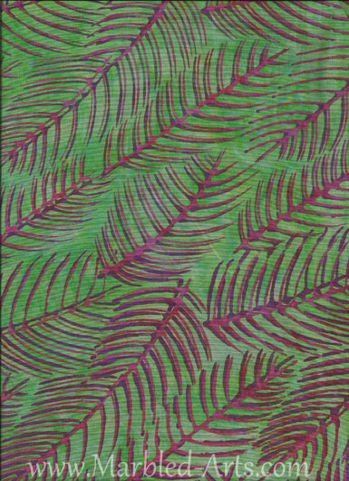 Pink Purple Leaf Batik