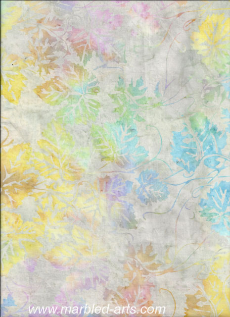 Silver Pastel Leaves