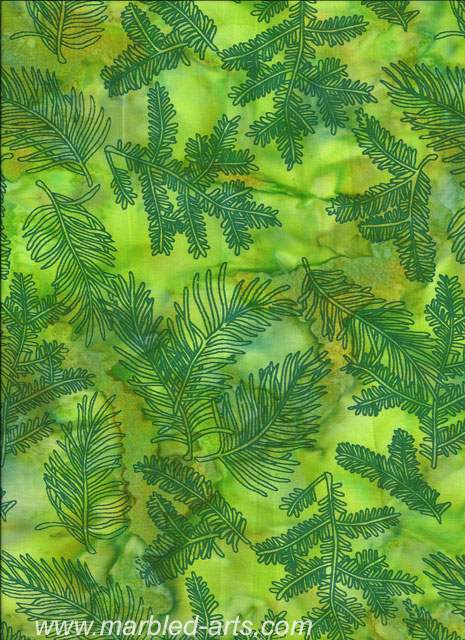 Summer Ferns Batik