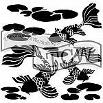 Koi Pond Stencil