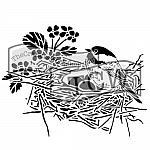 Bird Nest Stencil