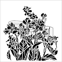 Canna Lilies Stencil