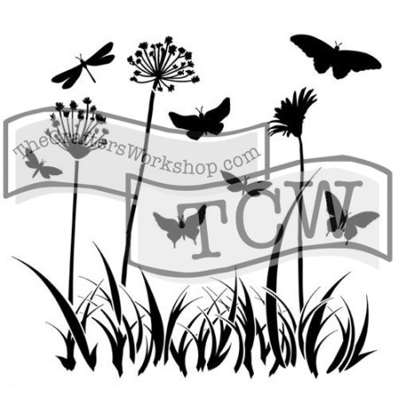 Butterfly Meadow Stencil