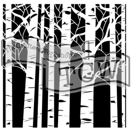 Aspen Trees Stencil