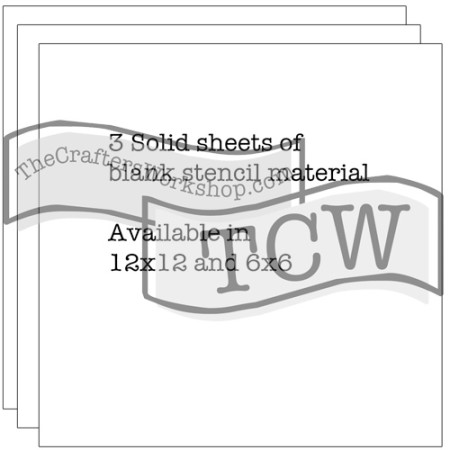 Set of Three Stencil Sheets