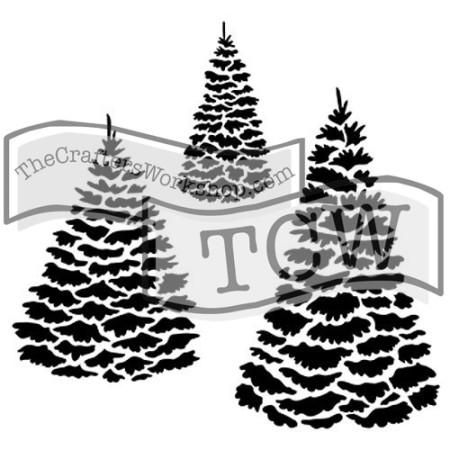Evergreens Stencil