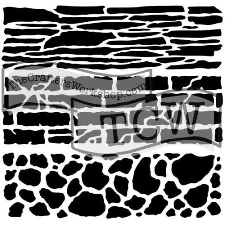 Rock Wall Stencil